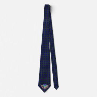 En härlig färgglad höglands- ko på tartan.en slips