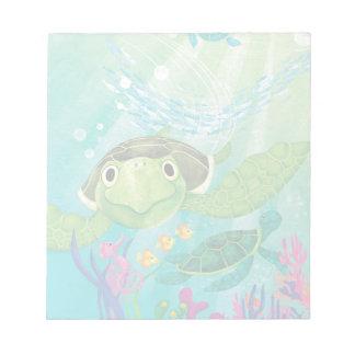 En havssköldpaddarädding anteckningsblock