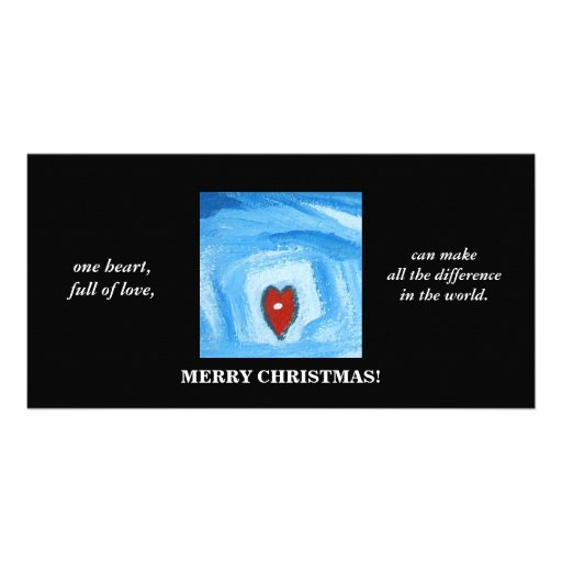 EN HEART/CHRISTMAS HÄLSNINGSKORT MED FOTO