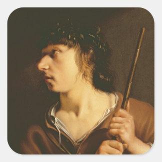 En herde, 1635 fyrkantigt klistermärke