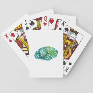 En hjärna spelkort