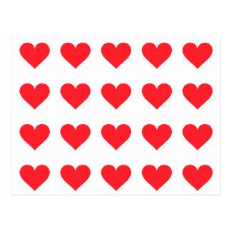 En hjärta av kärlek och affektion vykort