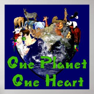 En hjärta för planet ett poster