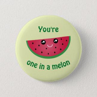 En i en rolig gullig Kawaii för melon vattenmelon Standard Knapp Rund 5.7 Cm