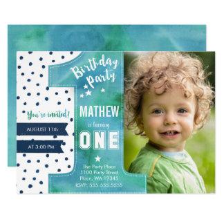 En inbjudan för födelsedagsfest | för vattenfärg |