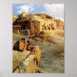 En indisk Pueblo Laguna ny - mexico - 1906 Affisch