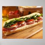 En italiensk undersmörgås med 2 print