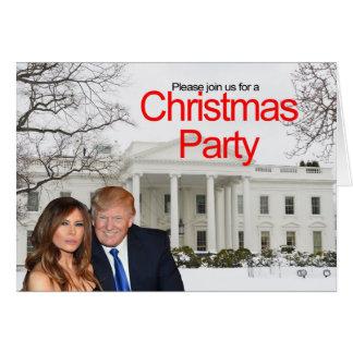 En julinbjudan från Donald och Melania Hälsningskort
