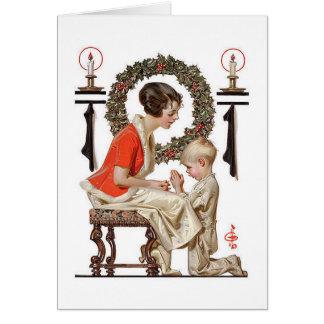 En julkort för vintage J.C.Leyendecker Hälsningskort