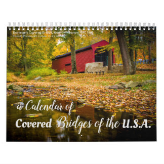 En kalender 2018 av doldt överbryggar i USA