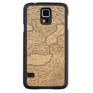 En karta av det brittiska väldet i Amerika lakan 6 Carved Lönn Galaxy S5 Slim Skal