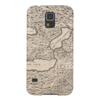En karta av det brittiska väldet i Amerika lakan 6 Galaxy S5 Fodral