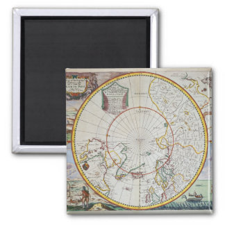 En karta av nordpolenen magnet