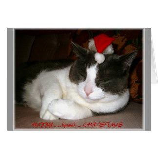En katt julWish Hälsningskort