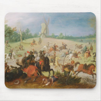 En kavalleri slåss musmatta