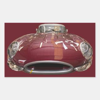 En klassikerjaguarE-Typ från 1961 Rektangulärt Klistermärke