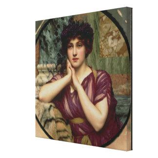 En klassiska Skönhet, 1901 (olja på kanfas) Canvastryck
