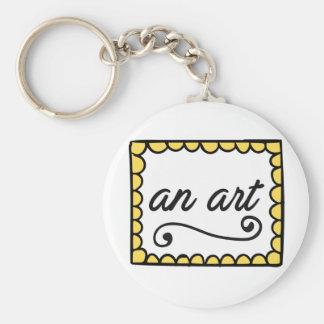 En konst Keychain Rund Nyckelring
