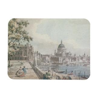 En kopiera av delen av en teckning vid Canaletto,  Magnet