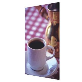 En kopp av arabiskakaffe. Syrien. Mittet Canvastryck