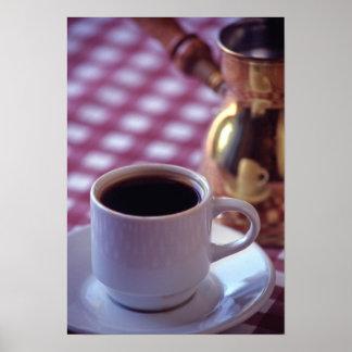 En kopp av arabiskakaffe. Syrien. Mittet Poster