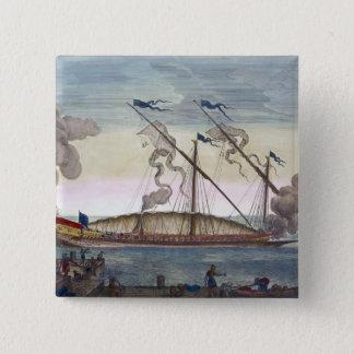 En kunglig galär (spanjor eller portugisen) rodde  standard kanpp fyrkantig 5.1 cm