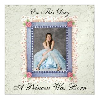 En kunglig Princess Festa - SRF Fyrkantigt 13,3 Cm Inbjudningskort