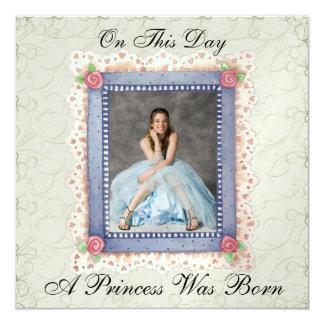 En kunglig Princess Festa - SRF Anpassningsbara Inbjudningskort