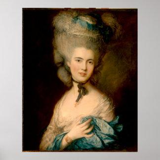 En kvinna i blått poster