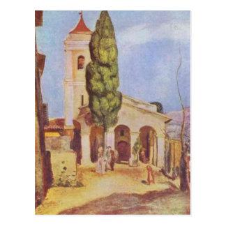 En kyrka på Cagnes vid Pierre-Auguste Renoir Vykort