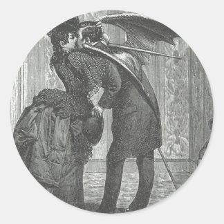 En kyssVictorian/en gotisk bevingad vampyr Runt Klistermärke