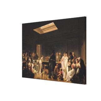 En lek av biljard, 1807 canvastryck