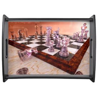 En lek av schacket frukostbricka