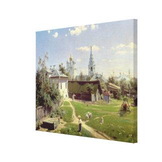 En liten gård i Moscow, 1878 Canvastryck