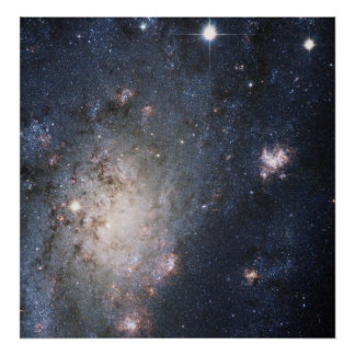 En ljus Supernova i den närliggande galaxen NGC Poster