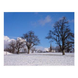 En ljus vinterdag vykort