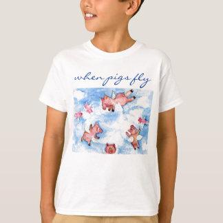 en lycklig flock av flyggrisar t shirts