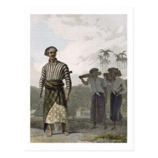 En Madurese av det frodigt av Mantu, pläterar 7 Vykort
