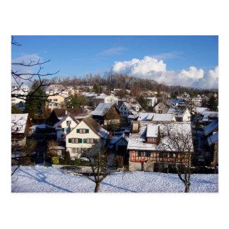 En magical vinterby vykort