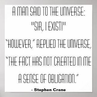 En man sade till universum… poster