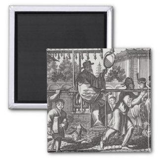En Mandarin i en Sedanstol, illustration från ett  Magnet