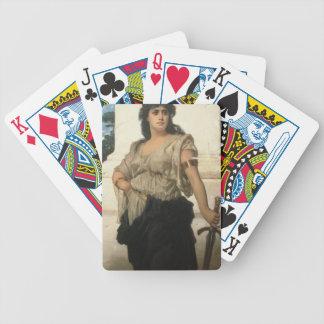 En mässakrigare (olja på kanfas) spelkort