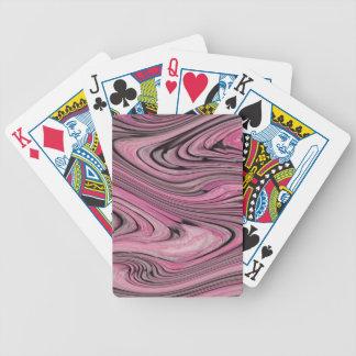 En modern abstrakt rosasvart vinkar mönster spelkort