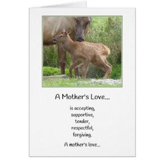 En mödrarkärlek… nyfödd bebis hälsningskort