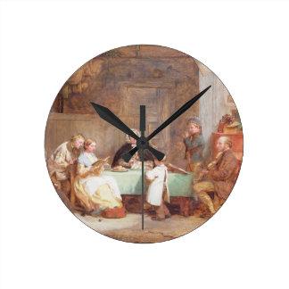 En musikalisk afton (olja på kanfas) 2 vägg klocka