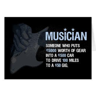 En musiker är… hälsningskort