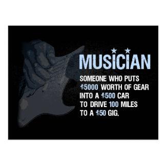 En musiker är… vykort