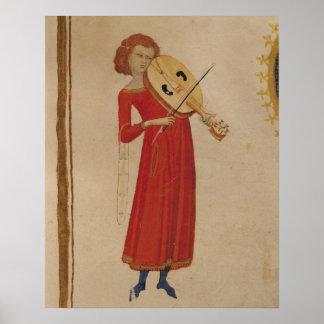 "En musiker, från ""De Musica"" vid Boethius Poster"