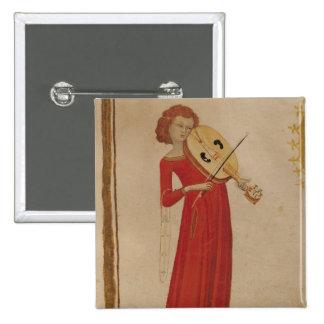 """En musiker, från """"De Musica"""" vid Boethius Standard Kanpp Fyrkantig 5.1 Cm"""