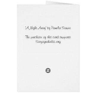 En natt bort hälsningskort